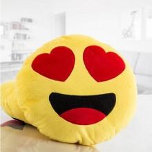 Emoji pude med hjerte øjne
