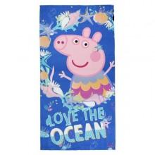 Gurli Gris strandhåndklæde marineblå