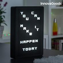 Tavle  med  LED  bogstaver
