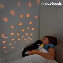 Krammebamse med lys pingvin