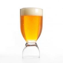 Kombineret øl og shot glas