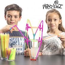 Playz Kidz sugerørsspil - 194 stykker
