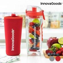 Vandflaske med filter til frugt rød