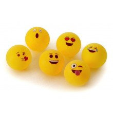 Beer Pong bolde med emojis - 6 stk