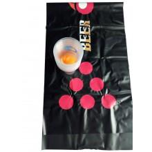 Beer  Pong  spillemåtte  m.  bolde  og  glas
