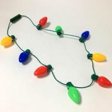 Halskæde  med  julelys