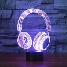 3D Lampe Høretelefon