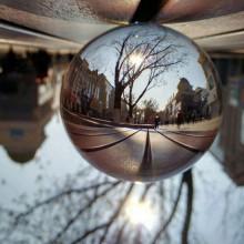 Glaskugle  til  fotografering  –  80  mm