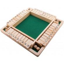 Shut the box brætspil - 4 personer