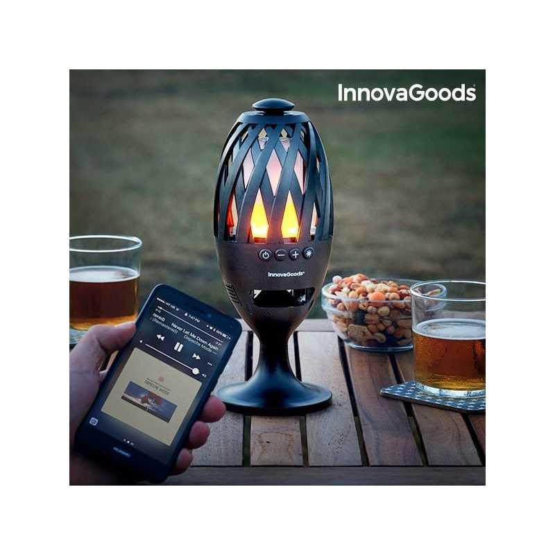 LED fakkel med bluetooth højtaler