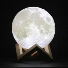 Måne Lampe med fjernbetjening - 10 cm