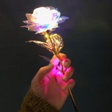 Holografisk rose med LED lys