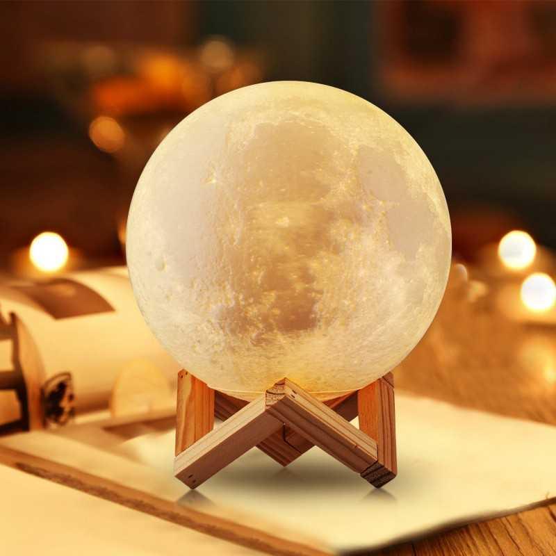 Måne Lampe - 18cm med fjernbetjening