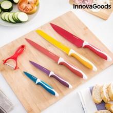 Keramisk knivsæt med skræller (6 dele)