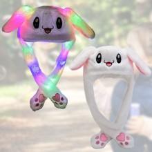 Kanin hat med lys og bevægelige ører