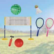 2-i-1 sæt – badminton og volleyball