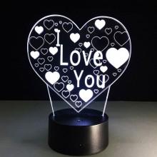 3D hjerte lampe