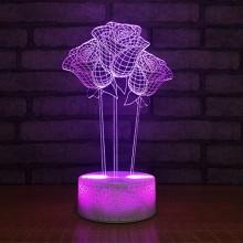 3D Rose lampe