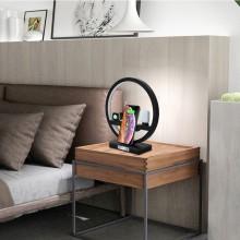 3-i-1 QI trådløs LED docking station til airpods, iwatch og iphone