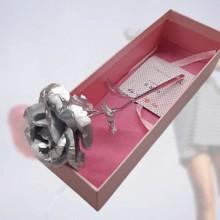 Sølv rose - Flot gaverose i sølv