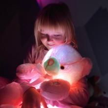 Bamse  med  LED-lys  -  50  cm
