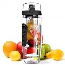 Vandflaske med filter til frugt