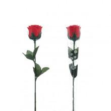 Lyserød rose med LED lys